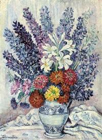 fleurs dans un vase by jeanne selmersheim-desgranges