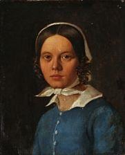portrait of the artist's sister sofie nees by fritz (georg urban f.) jürgensen