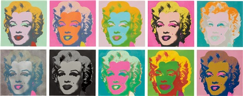 marilyn monroe marilyn portfolio of 10 by andy warhol