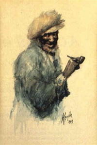 black man holding a pipe by edward windsor kemble
