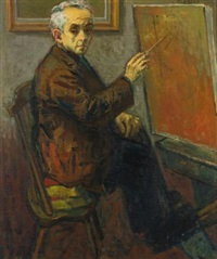 self-portrait by moses soyer
