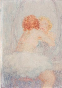 jeune femme au miroir by lucien boulier