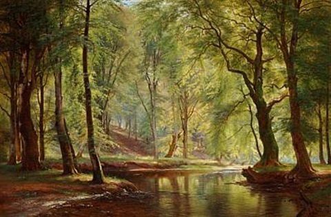 a day in june in lellinge forest by carl frederik peder aagaard