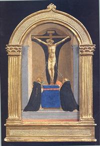 san pietro martire e san tommaso d'aquino davanti al crocifisso by fra angelico