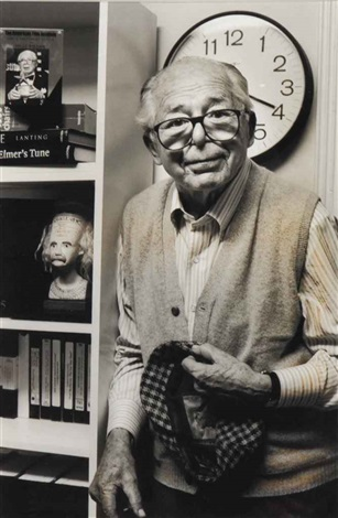 portrait of billy wilder by helmut newton