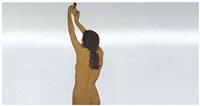 donna nuda che avvita una lampadina (nude woman affixing a light bulb) by michelangelo pistoletto