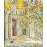 porch on san marco by colin campbell cooper