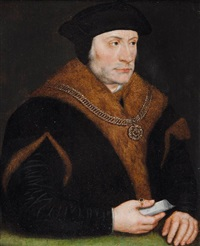 portrait de thomas moore by hans holbein the younger