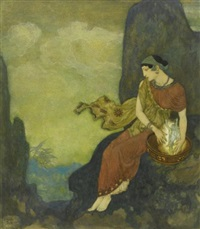 every cloud has its silver lining by edmund dulac
