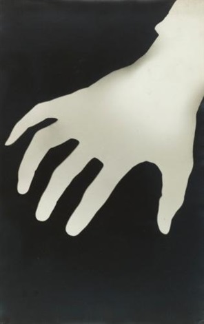 hand photogram by walker evans