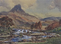 suilven & canisp from stoery bay road (+ 4 others; 5 works) by stirling gillespie