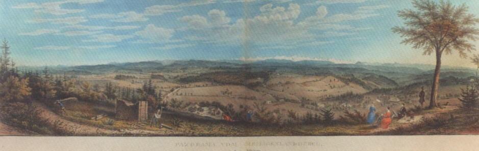panorama vom heiligenlandhubelbei affoltern by rudolf huber