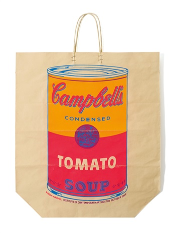 campbells soup shopping bag by andy warhol