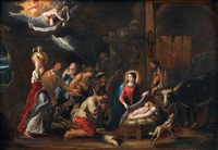 l'adoration des bergers by willem van herp the elder