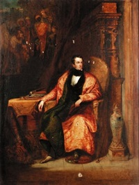 portrait of a gentleman in his sitting room by henry william pickersgill