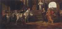 saints paul and barnabas at lystra by pieter lastman