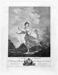 la fuite à dessein (after jean-honoré fragonard) (collab. w/charles françois macret) by jacques couché