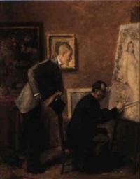 le peintre et l'amateur by eugène van gelder