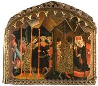 escena de la vida de santa catalina by nicolas solana