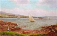 kames bay, rothersay by albert dunington