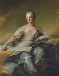 portrait de (marie-adélaïde de france, dite madame adélaïde, quatrième fille de louis xv ?) by louis richard françois dupont