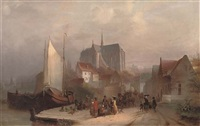 view of haarlem by pierre vervou