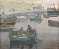 bateaux de pêcheurs dans le port d'alger by jean désiré bascoules