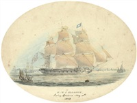 "h.m.s. ""blossom"" leaving spithead, may 19th by william (lieutenant) smyth"