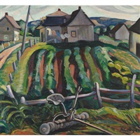 farming village, eastern townships (dbl-sided) by nora frances elisabeth collyer