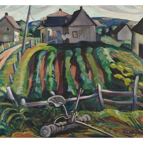 farming village eastern townships dbl sided by nora frances elisabeth collyer