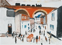 street with viaduct by fred yates