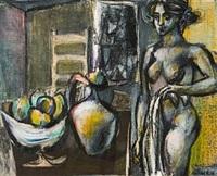 kvinne og fruktfat by gunnar s. gundersen