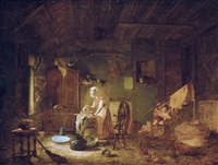 scène d'intérieur by jacques-albert senave
