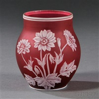 cameo vase by thomas webb and sons (co.)