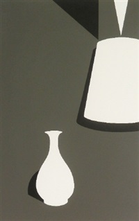 lamp and lung ch'uan ware (from white ware suite) by patrick caulfield