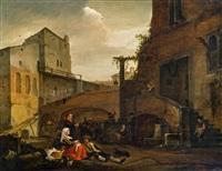 italienische straßenszene by thomas wijck
