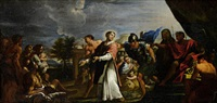 saint lawrence presenting the poor and the sick by pietro locatelli