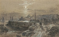 st. monans by moonlight by samuel bough