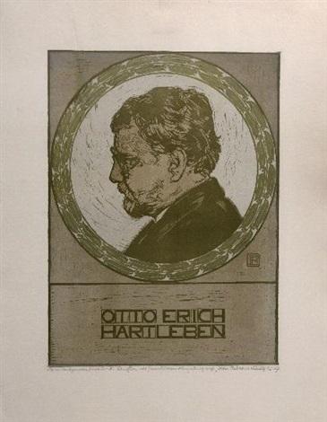 porträt des dichters otto erich hartleben by peter behrens