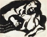 girl resting by lajos vajda