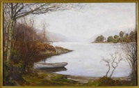 loch tay at kenmore by alexander brownlie docharty
