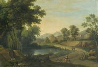 paysages classiques (pair) by carlo labruzzi