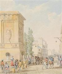 vue de la fontaine du gros caillou by pierre françois léonard fontaine