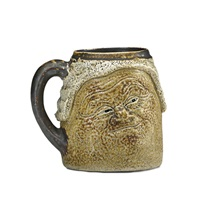 double-sided barrister face mug by robert wallace martin
