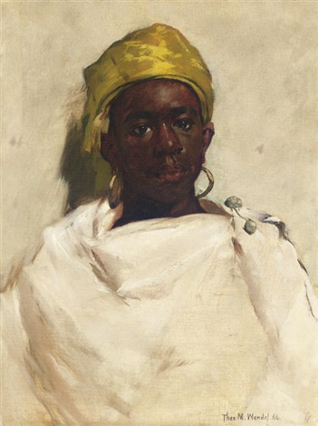portrait of a moroccan youth by theodore wendel