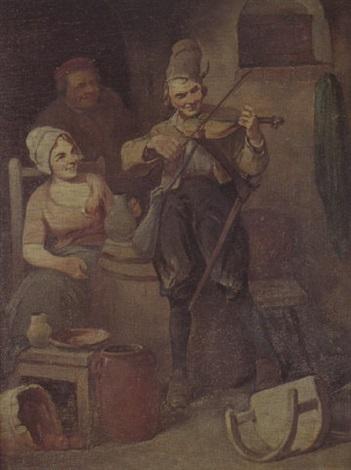 le violoniste dans une auberge by leonhard wilhelm lehmann