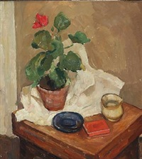 potted plant on a table by carl fischer