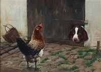 the dog looking at the cock by simon ludvig ditlev simonsen