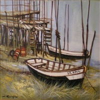 barques au repos by jacques goupil