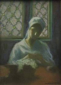 woman sewing by nicolae gropeanu